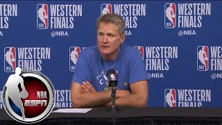 Download [FULL] Steve Kerr jokes that Steph Curry's injury is '13.7%' responsible for his play | NBA on ESPN Video