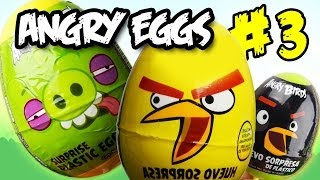 Download Angry Birds funny series ″Angry Eggs″ #3 - Kinder surprise egg toy opening EPIC fun movie (SC4K) Video