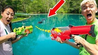 Download POND MONSTER NERF WAR!! Video