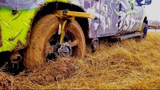 Download You wont believe this trick to get your truck out of the mud Video