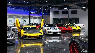 Download Most Expensive Supercar Showroom World's Best Exotic cars Drive by at Prestige Imports Miami Video