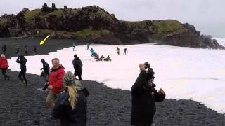 Download Big sneaker wave at Djúpalónssandur, Iceland Video