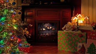 Download 4K FIREPLACE Cozy Christmas Scene 2 HOUR Nature Relaxation Video with Sounds Video