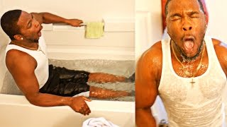 Download FUNNIEST ICE BATH CHALLENGE ON YOUTUBE VLOG! HE COULDN'T TAKE THE COLD WATER! Video