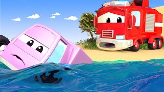 Download The FLOODING River - The Car Patrol in Car City Police Car & Fire Truck for Kids Video