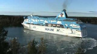 Download Silja Line M/S Galaxy Makes A Heavy Turn In The Port Of Mariehamn Åland. Video