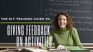 Download Giving feedback on activities Video