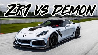Download 2019 Corvette ZR1 vs Dodge Demon - 1600HP GTR - TrackHawk - McLaren 720s Video