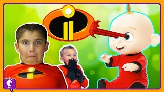 Download We BABYSIT JACK JACK! Laser Eyes with Incredibles 2 by HobbyKidsTV Video