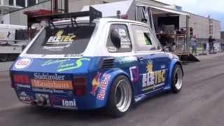 Download Fiat 126 Hayabusa 4x4 vs. Fiat 500 Kawasaki / Autoslalom Laas '14 Video