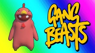 Download Gang Beasts Funny Moments - Red Chicken Fighting Champion! Video