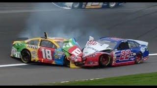 Download Busch and Logano crash at Kansas! Video