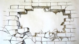 Download How To Draw A Broken Brick Wall (The Original) Video