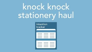 Download knock knock stationery haul Video