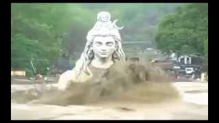 Download Statue of Lord Shiva in Rishikesh, Ganga River Heavy Flood in Uttarakhand... jagadeepkumar. Video