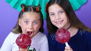 Download ❤️ GIANT CHUPA CHUPS and Gum haul - biggest gumball, fortune gum kid taste test review rainbow nerds Video