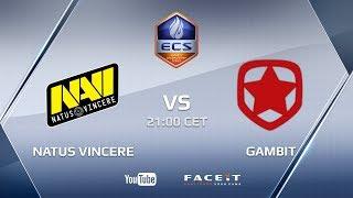 Download Natus Vincere vs Gambit Gaming, ECS Season 5 Europe Challenger Cup Video