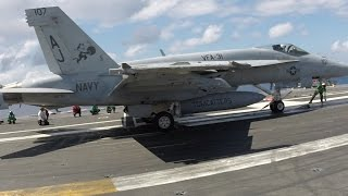 Download My Visit to an Active Aircraft Carrier. With Narration. Video