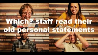 Download Which? staff read the personal statements they wrote as teenagers Video