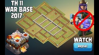 Download Best Th11 War Base 2017 Anti 0 Star/Anti 1 Star With Replay Anti bowler walk anti queen walk miner Video