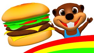 Download ″Happy Hamburger″ | I'm Happy Song & More, Kids Make a Burger & Hot Dog, ESL Feelings & Food Songs Video