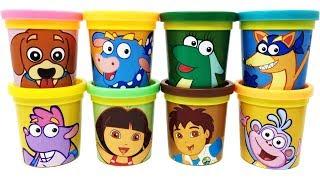 Download Dora the Explorer Play-Doh Surprise Toys Dora Diego Swiper Perrito Tico Boots Isa Benny Video