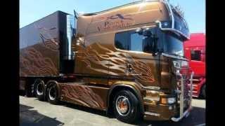Download Scania R620 V8 Longline P.van den Blucke (STH) France interior - Black Amber replica (HD) Video