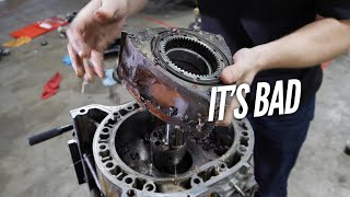 Download We Find HORRIBLE Damage inside the 3 Rotor. Engine Teardown and Rebuild with Welch's Video
