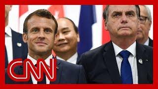 Download French President Emmanuel Macron slams Brazil's president over Amazon fires Video