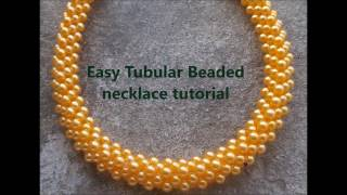 Download Easy tubular beaded necklace or bracelet tutorial Video