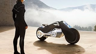 Download BMW Self Balancing Motorbike Demonstration LIVE Driving BMW Vision 100 BMW Autonomous Bike CARJAM Video