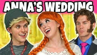 Download ANNA MARRY KRISTOFF OR HANS? (Frozen Anna and Elsa at the Wedding) Totally TV Video