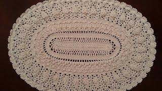 Download Crochet Doily - Elegant Oval Doily Part 5 Video