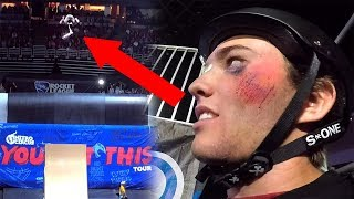Download Went for the biggest trick of my life.. and crashed! (Nitro Circus Live) Video