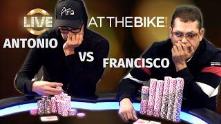 Download Antonio Esfandiari & Francisco Rivalry Continues With Huge Pot ♠ Live at the Bike! Video