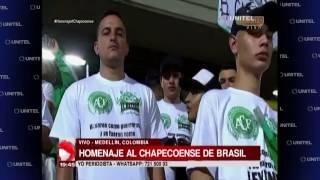 Download Rinden homenaje a las víctimas del Chapecoense en el estadio Atanasio Girardot Video