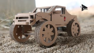 Download How to Make Amazing Monster Truck(Off Road car) from Cardboard Video
