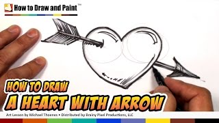Download How to Draw a Heart with Arrow - Heart Drawing Lesson - Art for Kids | MAT Video