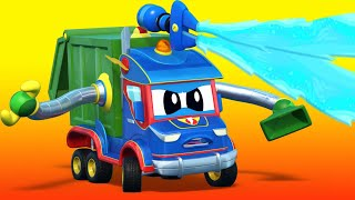 Download Truck videos for kids - The bulldozer goes CRAZY! GARBAGE TRUCK cartoon - Super Truck in Car City ! Video