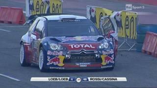 Download Sebastian Loeb Vs Valentino Rossi - Monza Rally Show 2011 Video