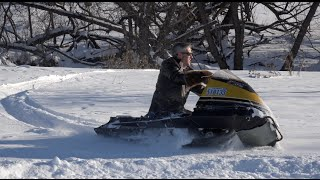 Download NO SKIS on this sled! The Flickiest Snowmobile !! Ricky Bobby Louie rides!! Video