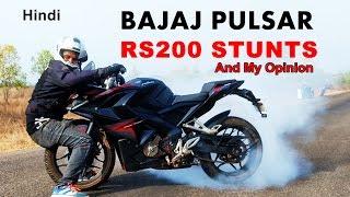 Download Bajaj Pulsar RS200 Stunts - My Opinion - Wheelie Stoppie & Suicide Burnout Video