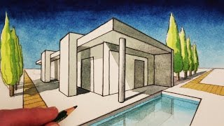 Download How to Draw in 2-Point Perspective: A Modern House Video