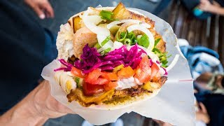 Download Tel Aviv Food Tour - BEST Sabich, Hummus, and Lamb Pita - Middle Eastern Israeli Food! Video