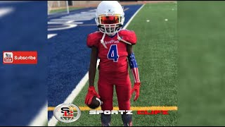 Download Jaylen JigStick Huff | 8U Laced Facts | Youth Football Experience | Skills Drills Video