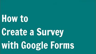 Download How to Create a Survey with Google Forms (Google Docs) Video