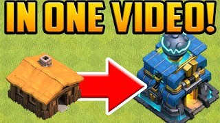 Download GEM TO MAX! Town Hall 1 to 12 in ONE VIDEO! Clash of Clans Gem Spree Video