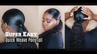 Download Easy Protective Style ! QuickWeave Ponytail ″Baggie Method″ Video