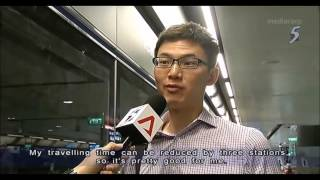 Download Commuters take newly-opened Downtown Line 2 to school, work Video