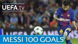 Download Lionel Messi - 100 European goals - Watch them all Video